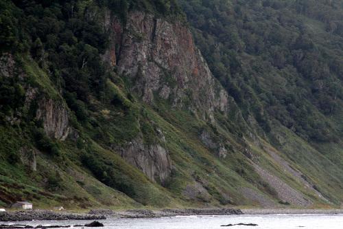 相泊から先の風景。地形のスケールがでかすぎる