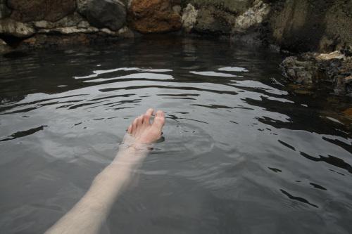 塩分が濃く、手足がプカプカ浮く感じ