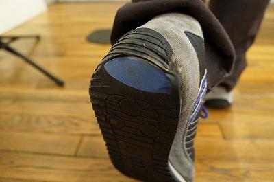 かかともよく減っていて見どころの多い靴でした