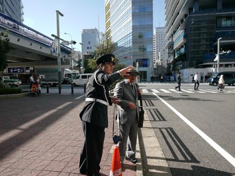 警察博物館前にいるとすごい頻度で道を聞かれる