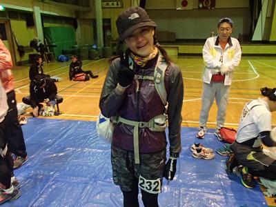 土生さん。信越五岳トレイルランニングレースを完走したこともある山ガール。