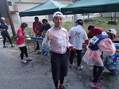 福田さん。マラソン大会というものに今まで出たことがなく、これが初大会。