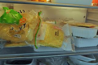 冷蔵庫が豆腐製品でいっぱい