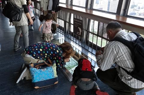 そのために前日に東京タワーにのぼり見下ろす窓から写真を撮ってきた