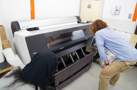B0のプリンタは思ったよりも速く印刷する。