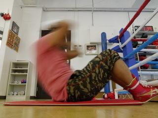 最後は筋力トレーニングで締め