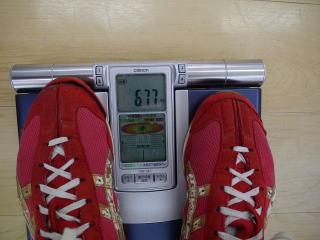 トレーニング後:67.7キロ