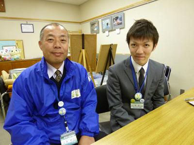 左が大竹課長、右が中村さん。