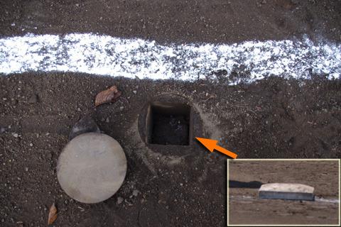 レベルの高いベースは「固定ベース」といい、穴に刺さっている。