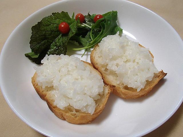 白米ジャムパン。パン、ご飯、塩。以上!