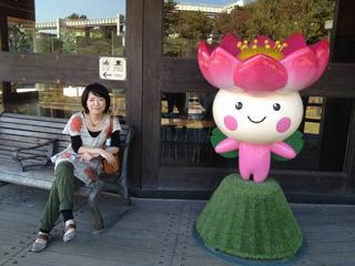 千葉市マスコットのちはなちゃんと。可愛いなこの子