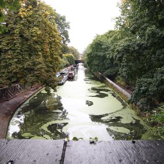 上からここまでの運河が見渡せる。ここが最終地点…と思いきや…