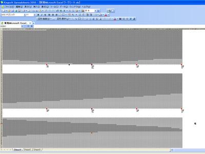 こうなる。長すぎてエクセルの横スクロールを使い切ってしまったので、3つに分けた。