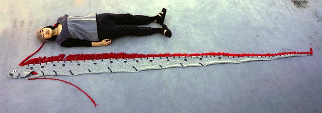 比べてみる(乙幡は161cm)。ビル何階分とかで喩えたくなる長さ。