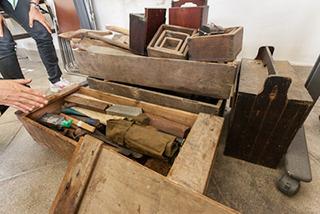 昔の大工道具。丁寧に手入れされていてまだまだ使える。