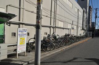 兼用駐輪場で出入りがほぼ無し。