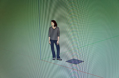 四角を描く