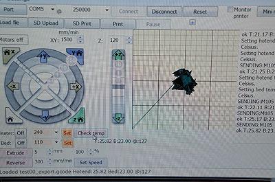 3Dプリンタの制御ソフトにティッシュが入った!