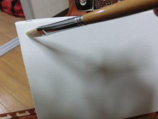 まずはキャンバスに地塗りを行う。これをやると油絵具の発色がよくなるらしい
