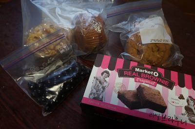 例のマフィンにクッキーにチョコにブラウニーにと私も分けてもらった