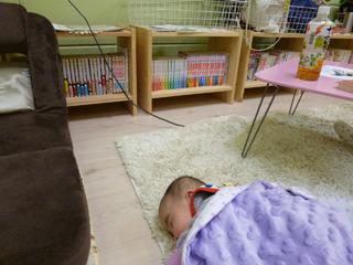 赤ちゃんも寝返り放題な広さ。