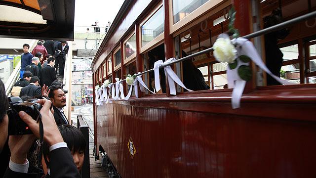 終点は披露宴会場の長崎駅前。