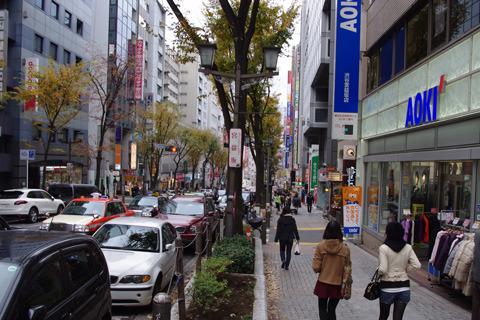 慣れた人にはいかにも渋谷!!といった風景。