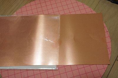 銅板を買ってきた。