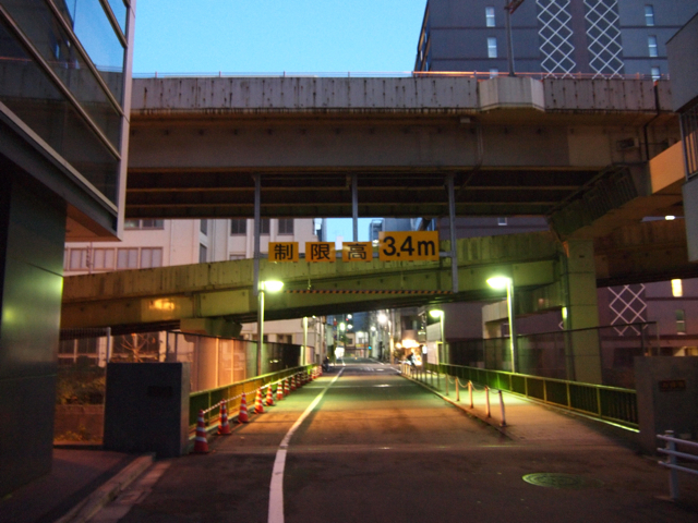 うっかりフォトジェニックなこの高架は、首都高ではなく、銀座のほうへ回り込む東京高速道路である。このへんの事情は何度きいてもよくわからない。