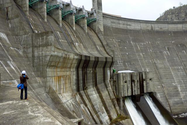 個人的には大好きな湯田ダムを間近で見学できたのが最大のできごと