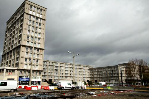 ル・アーヴルにはとにかく四角い建物が並ぶ