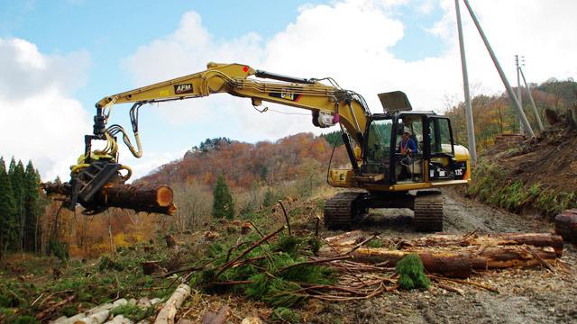これが高性能林業機械、ハーベスタだ!