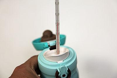 350mlの方は72℃。容量が少ない分冷えやすいのか。
