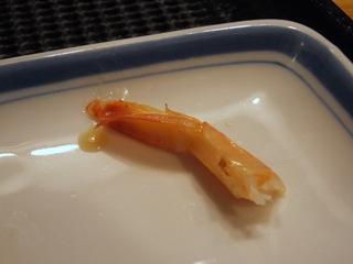 「エビの殻入れ用小皿」である