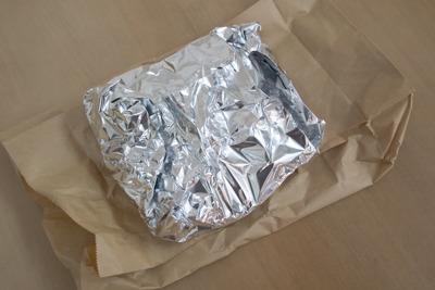 アルミホイル+紙袋
