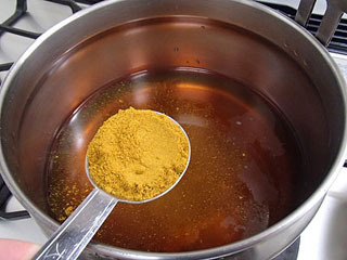 醤油と味噌をつかって和風カレー味。
