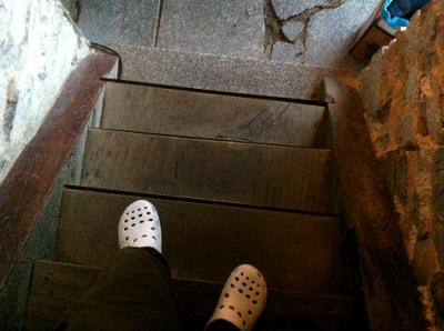 その宿の宿で見事に足を踏み外してしまった