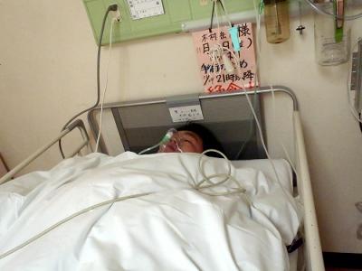 麻酔切れの直後で朦朧とする中、撮ってもらった