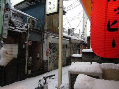 いっかい外に出てみる。雪、つもるばかり。すごい、今季初の天気ねえ。