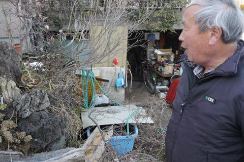 さきほど言ってた岩田さんちの風水。水がながれていて中に神様の木がある(ものすごく小さい)。