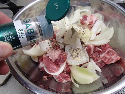 タイムの香りは肉によく合う。