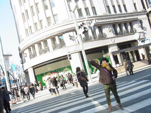 銀座を練り歩くのは高級ブランド店を周った時以来(こちら</a>)