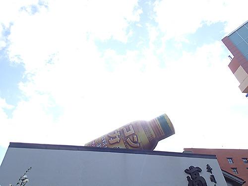 建物の屋上に設置されてこのでかさ。たぶんウコンの力が3トンくらい入る。