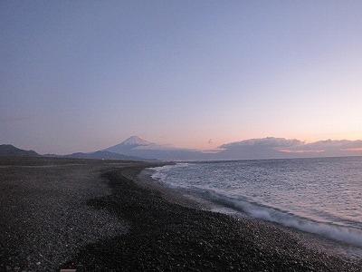 富士山が見えるよ。