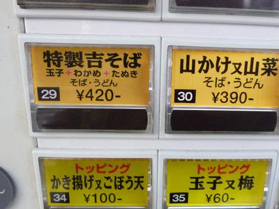 天ぷらかな…あれ、意外なトッピング。