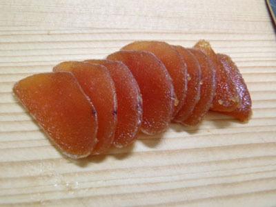 以前紹介したタラコの味噌漬け干しもうまいです。漬けて干すとうまくなる。どちらも冬季限定。店で出しています。