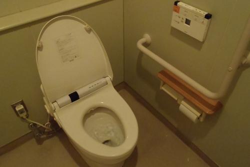 こちらは外来エリアのトイレである