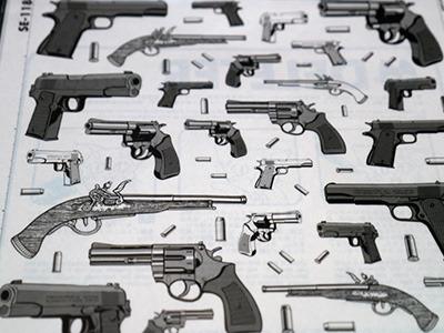 様々な銃が……