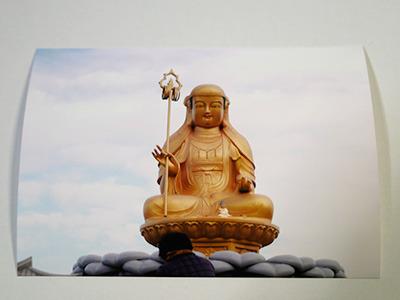 ありがたみがあるんだかないんだかなビミョーな造型の仏像にスクリーントーンを貼り付ければ……