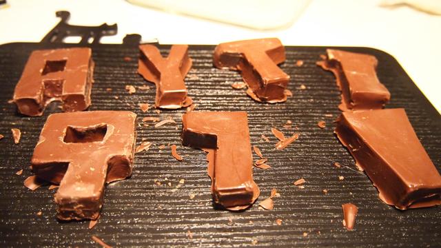 チョコレートが、できあがりました